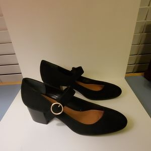 Style & Co. Size 8.5 M Black Vegan Suede Heels